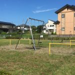 アパート前には公園があります